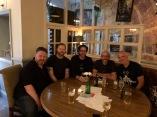 crisps and ale dinner (Gareth, Damien, me, Tim, Adam)